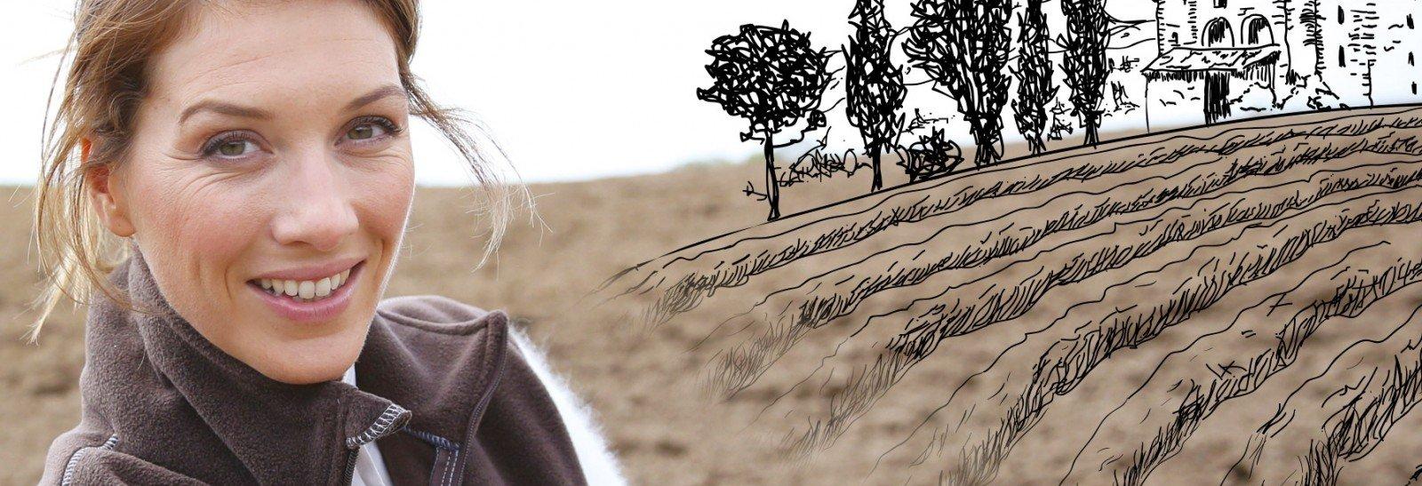 Agricultrice qui souhaite acheter des terres
