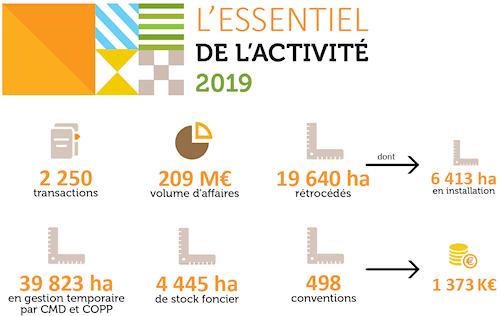 Activité Safer Occitanie 2019